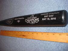 2009 World Champion New York Yankees Black Replica Baseball Bat SGA Louisville