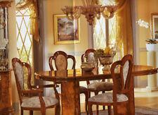 Esstisch Oval Ausziehbar Hochglanz Klassische Italienische Stilmöbel Nussbaum