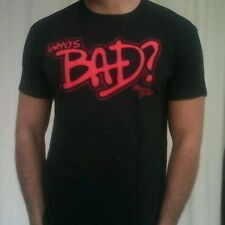 Michael JACKSON i cui Cattivo Nero Cotone Gildan girocollo con grafica T-shirt taglia XL