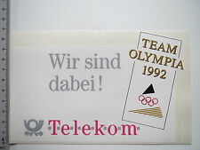 Aufkleber Sticker Telekom Olympia Team 1992 (M1956)