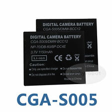 2pack CGA-S005 Battery for Panasonic DMC-FX8 DMC-LX1 DMC-LX9 Lumix DMC-FX01