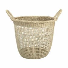Basket Laundry Clothes  Seagrass Tall Basket Storage Capacity 5kg Natural