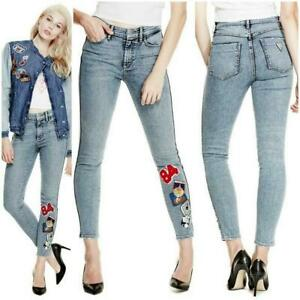 Las Mejores Ofertas En Pantalones Bordado Guess Para De Mujer Ebay