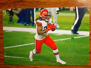 Kareem Hunt Browns Football 4x6 Game Photo Picture Card
