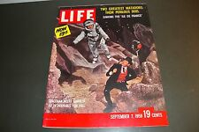 NEWSSTAND LIFE MAGAZINE SEPTEMBER 7, 1959 WITH SPACEMAN MEETS GAMBLER NO LABEL