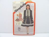 Simplicity 5625 Sax's Girls Size 12 Church Jacket Skirt Top Sewing Pattern #147