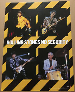 ROLLING STONES Rare 1998 PROMO POSTER for Security CD 18x24 MINT Keith Richards
