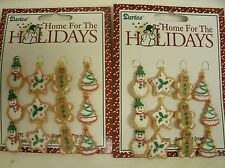 """24 Miniature Sugared Gingerbread Cookie Ornaments for Feather Tree 1"""" tall"""