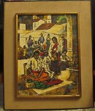 'Epifanio Ortega 1974 Oil Canvas Painting '' Mexico'' Signed and Dated