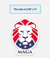 Trump MAGA Bumper Sticker, Heavy Duty Vinyl Decal Made in USA Free Shipping!