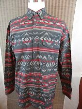 NEW Basic Editions L/S Tribal Western Rodeo Mens Dress Shirt ~ Sz XL