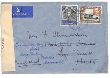 "Q27 1940 ww2 Kenya in Inghilterra. ""CENSURATO EX njoro"""
