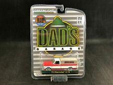 Greenlight 1972 72 Chevy Truck Camper Shell Dads Garage Red White 1/64 Die cast