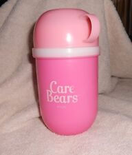 Girls pink Care Bears plastic thermos bottle with cup rounded bottom design vntg