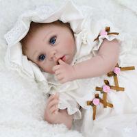 22''Reborn Baby Girl Newborn Baby Dolls Realistic Vinyl Silicone Doll+Dresses US
