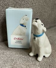 More details for cath kidston stanley the dog pie funnel/vent white terrier with box