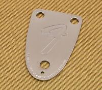 """005-5259-000 Fender Bass 3 Bolt Logo """"F"""" 70s Style Tilt Chrome Neck Plate"""