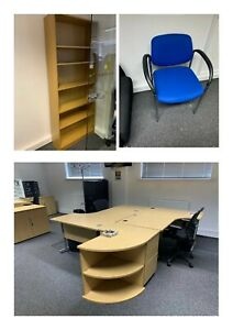 HUGE Job lot office furniture/clearance desk, chairs, cabinets, draws,bookcases