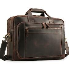 """Männer Leder 17""""Laptop Business Aktentasche Messenger Schulter Tasche Handtasche"""