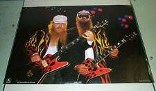 Zz Top Vintage Stage w/ guitars 1986 Poster