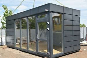 Bürocontainer Container Imbiss Büro Verkaufsraum Pavillon 6x2,9m PIR Platten NEU