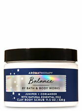 Bath & Body Works Aromatherapy BALANCE Juniper & Coriander Clay Body Scrub