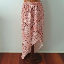 "THREE OF SOMETHING - Size L NWT ""Arizona Sundown"" faux wrap hi-lo skirt SOLD OUT"