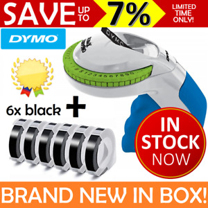 NEW IN BOX DYMO Embossing Label Maker Labeller Organiser Xpress + 6 Black Tapes
