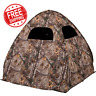 Ground Hunting Blind Portable Deer Pop Up Camo Hunter Weather Proof Hunter Tent