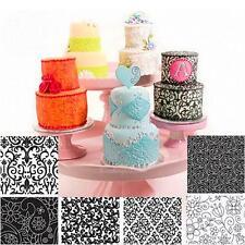6x Plastic Fondant Cookie Cake Sugar Craft DIY Mat Texture Flower Decor Mold Set