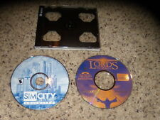 Sim City 3000 Unlimited & Lords of Magic Special Edtion PC Games Excellent Cond.