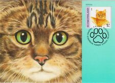 Domestic Cat Home Kitten Finland Mint FDC Maxi Card 2006