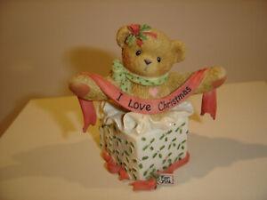 Cherished Teddies Andrea RARE 2002 Abbey Press Exclusive Christmas Figurine NEW