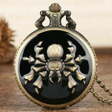 Quartz Pocket Watch Necklace Chain Antique Vintage Spider/Scorpion Men Women