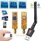 600Mbps Dual Band WiFi Wireless USB Lan Adapter Wi-Fi Dongle w/ Antenna 802.11AC