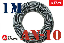 """AN-10 (9/16"""") Stainless Steel Braided Fuel Hose – 1M"""