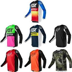 Mens Fox 180 Race Dirt Jersey ATV MX Off-Road Motocross DH MTB Cycling Bike Tops