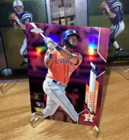Yordan Alvarez Topps Chrome 2020 Pink Refractor Rookie Card Houston Astros