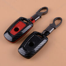 Carbon Fiber Remote Key Fob Case Cover Key Chain Ring Fit for BMW 1-7 Series F10
