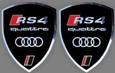 2 autocollants stickers noir chrome AUDI RS 4  (idéal ailes avant) RS4