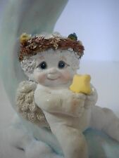 Dreamsicles Moon Dance Figurine 1991 Cherub Sitting on Crescent Moon Signed