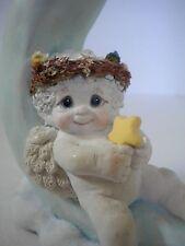Dreamsicles Moon Dance Figurine 1991 Cherub Sitting on Crescent Moon Signed
