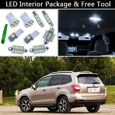 8PCS Xenon White LED Interior Lights Package kit Fit 09-2014 Subaru Forester J1