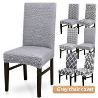 Stretch Dining Chair Cover Grey Slipcover Removable Wedding Banquet Event 6 Type
