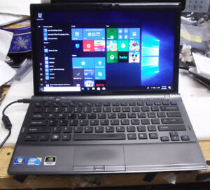 Sony Vaio VPCZ1 Laptop- 180GB SSD, 4GB RAM, Intel i5-CPU,2.53G win10 1600x900