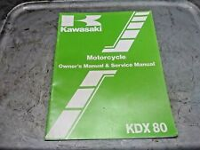 1983 Kdx80 Kdx80-B3 Oem Kawasaki Owners & Service Manual (Fits: Kawasaki)