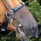 Medium Classic Equine Horse Quiet Ride Dust Protect Nose Net Cover Black U--MED