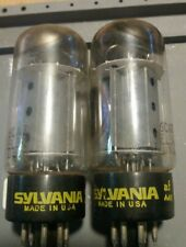 Sylvania USA 6CA7 / EL34 Double Oblique Getter - 2 tubes