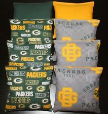 All Weather Cornhole Bean Bags Green Bay Packers 8 Plastic Resin Filled Bags
