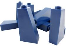 Lego 10 Pièce Tuiles en Béton Bleu Foncé 75 2x1x3 Bloc Incliné 4460b Neuf